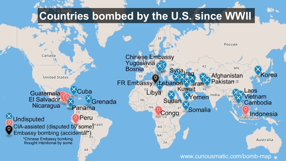 US Bombing Since WWII